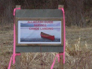 Allagash Guide Service Canoe Landing Sign
